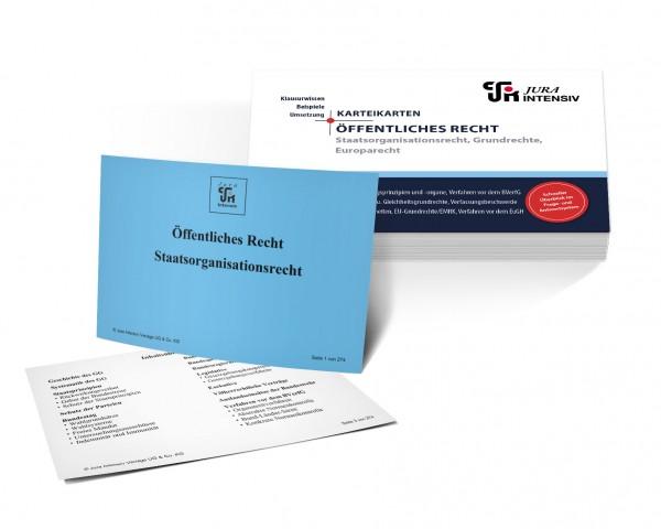 Karteikarten Staatsorganisationsrecht, Grundrechte und Europarecht für das 1. Examen