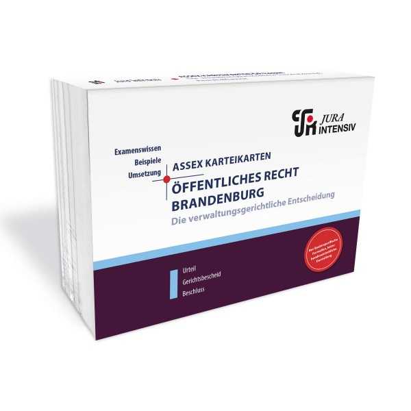 ASSEX Karteikarten Öffentliches Recht Brandenburg - Verw.gerichtliche Entsch., 2. Auflage