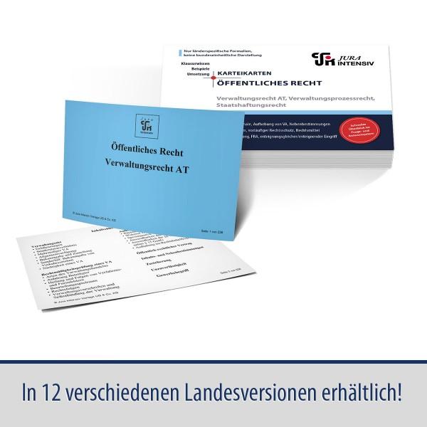 Karteikarten Öffentliches Recht, VerwR-AT/VerwProzessR/StaatshaftungsR