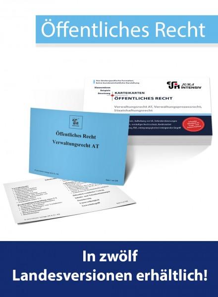 Karteikarten ÖR - Verw-AT/ VerwProzessR/ StaatshaftungsR, 1. Aufl.