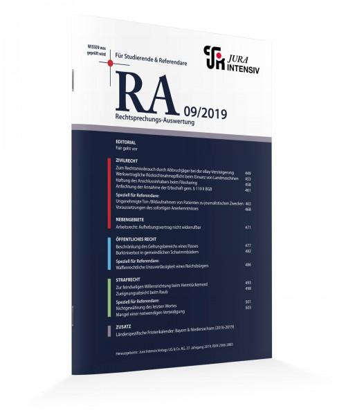RA Ausgabe 09/2019