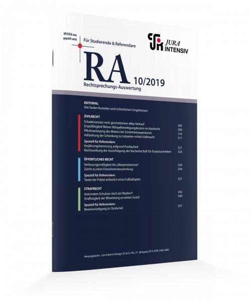 RA Ausgabe 10/2019