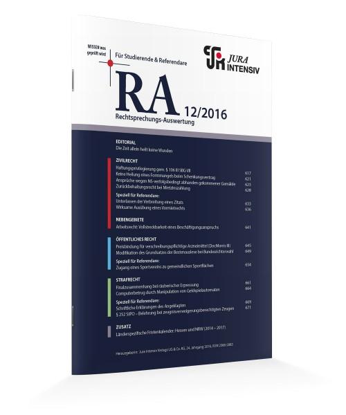 RA Ausgabe 12/2016