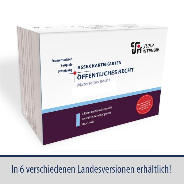 ASSEX Karteikarten Öffentliches Recht, Materielles Recht