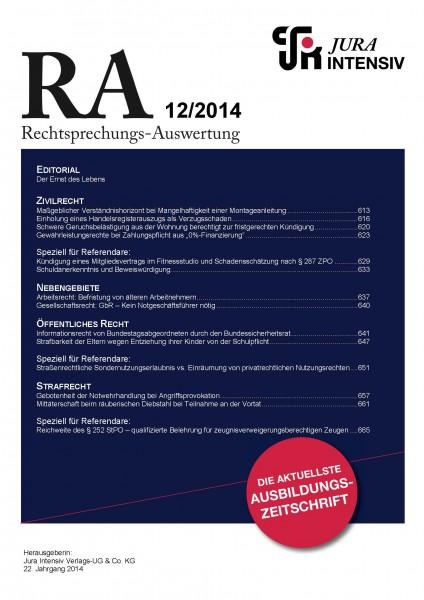 RA Ausgabe 12/2014