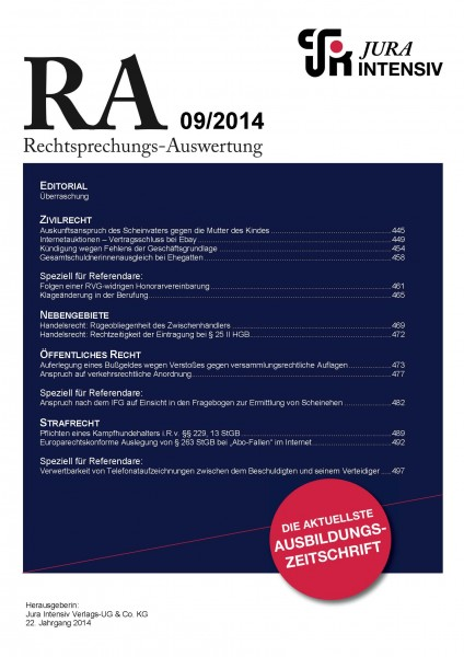 RA Ausgabe 09/2014