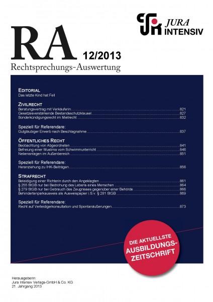RA Ausgabe 12/2013
