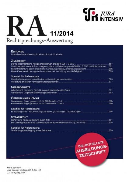 RA Ausgabe 11/2014