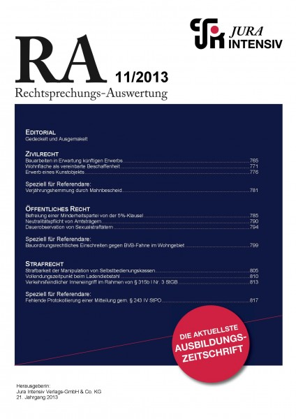 RA Ausgabe 11/2013