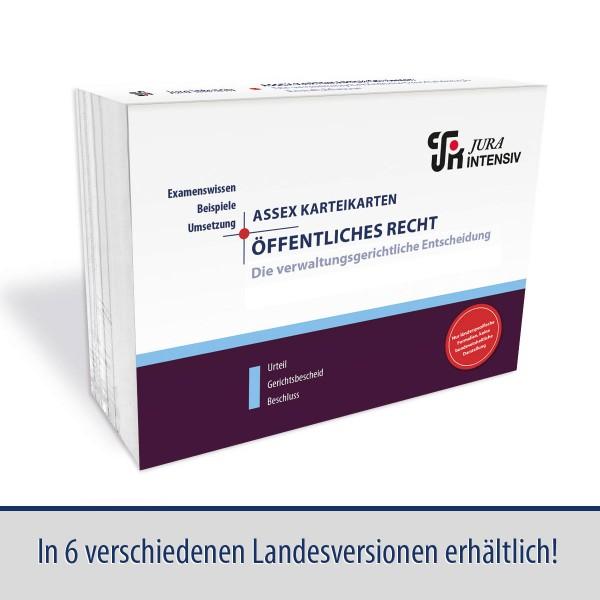 ASSEX Karteikarten Öffentliches Recht, Verwaltungsgericht