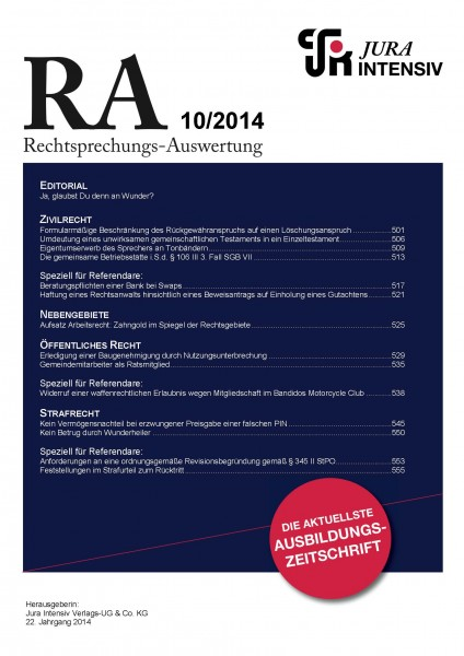 RA Ausgabe 10/2014
