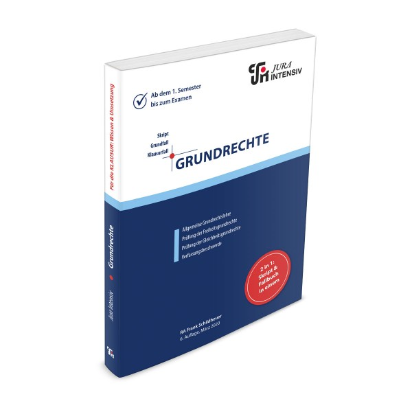 Die 6. Auflage des INTENSIV-Skriptes Grundrechte