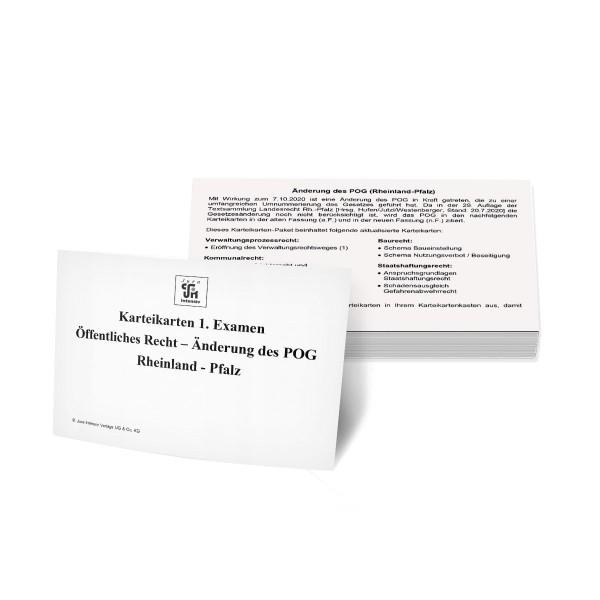 Nachkaufset Karteikarten 1. Examen Öffentliches Recht Rheinland-Pfalz - Änderung des POG