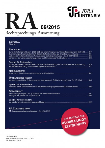 RA Ausgabe 09/2015