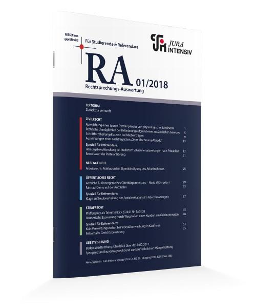RA Printausgaben 2018
