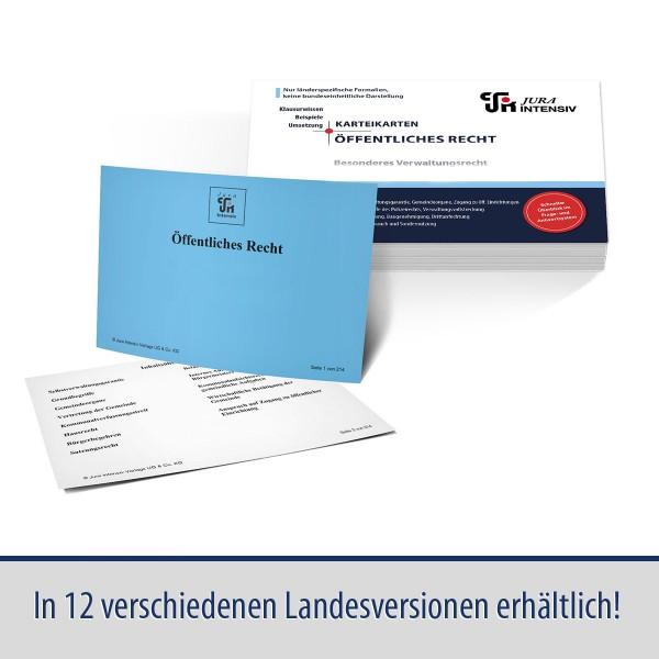 Karteikarten Öffentliches Recht, Bes. Verwaltungsrecht