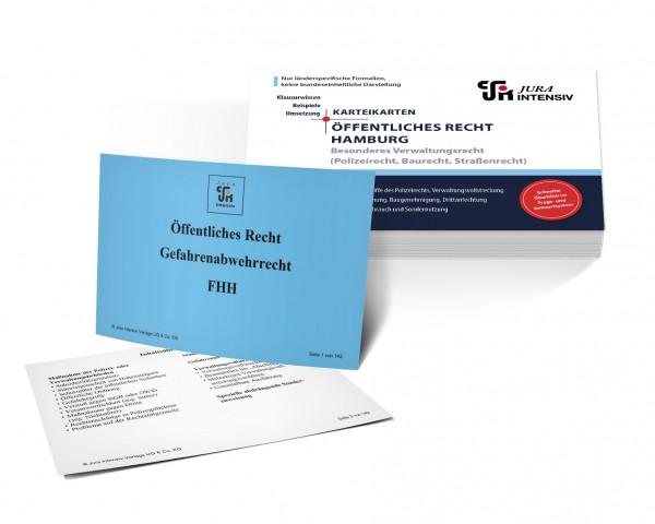 Karteikarten Öffentliches Recht Hamburg, Besonderes Verwaltungsrecht: Polizeirecht, Baurecht und Straßenrecht für das 1. Examen