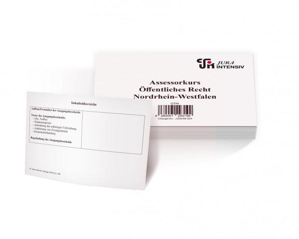 Assessorkarteikarten - ÖR NRW