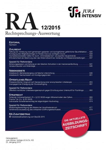 RA Ausgabe 12/2015