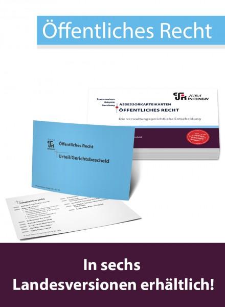 ASSEX Karteikarten Verwaltungsgericht