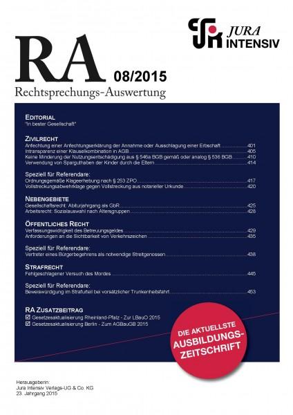 RA Ausgabe 08/2015