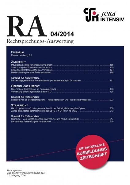 RA Ausgabe 04/2014