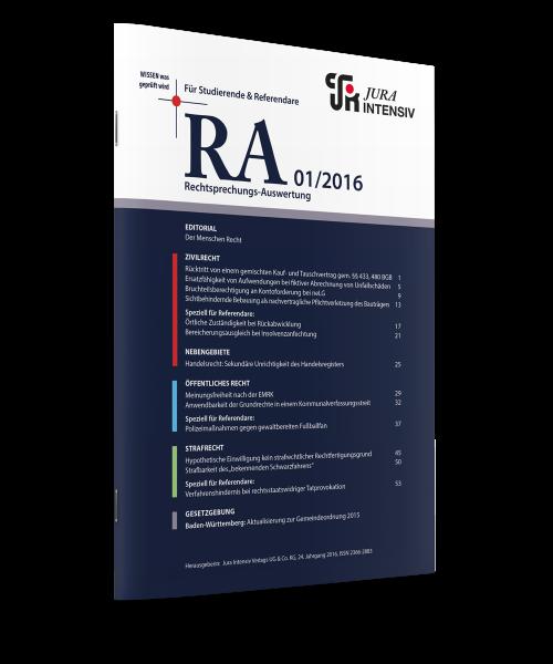 RA Ausgabe 01/2016