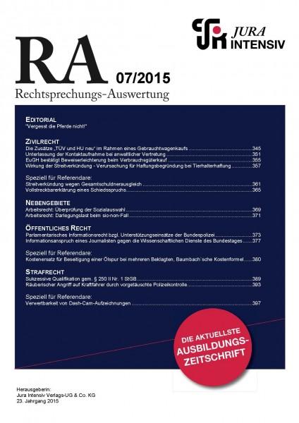 RA Ausgabe 07/2015