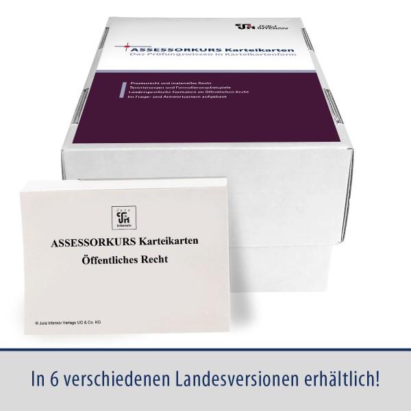 ASSESSORKURS Karteikarten - Öffentliches Recht, 8. Auflage