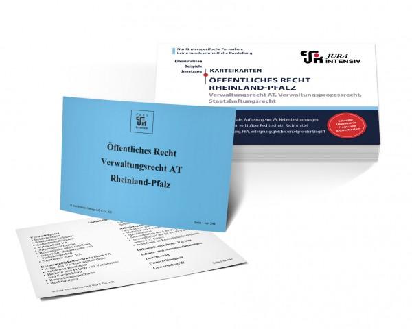 Karteikarten Öffentliches Recht Rheinland-Pfalz: Verwaltungsrecht AT, Verwaltungsprozessrecht und Staatshaftungsrecht für das 1. Examen
